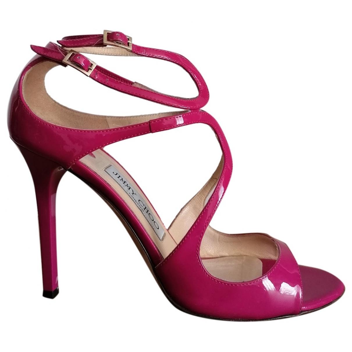 Jimmy Choo - Sandales Lance pour femme en cuir verni - rose