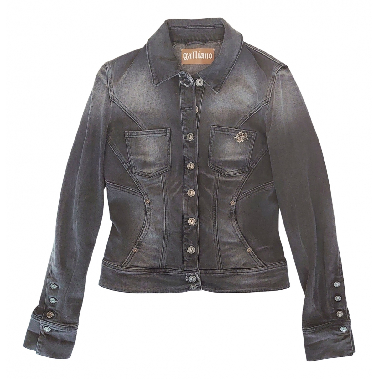 Galliano \N Grey Cotton jacket for Women 44 IT
