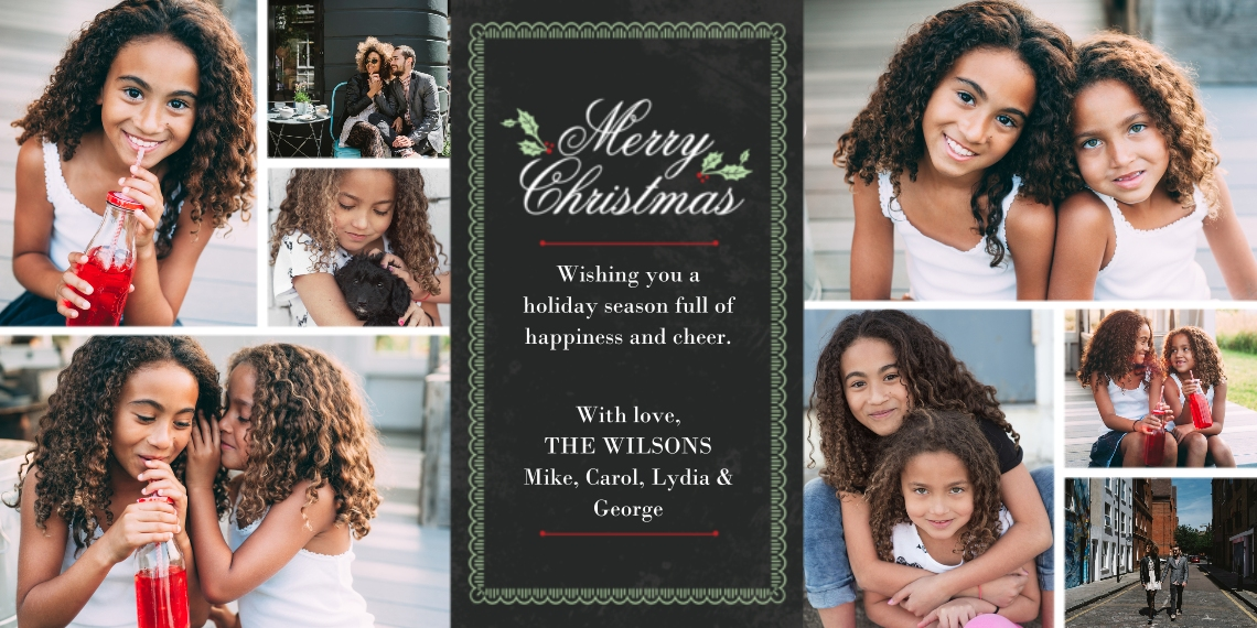 Christmas Photo Cards Flat Glossy Photo Paper Cards with Envelopes, 4x8, Card & Stationery -A Family Rejoices
