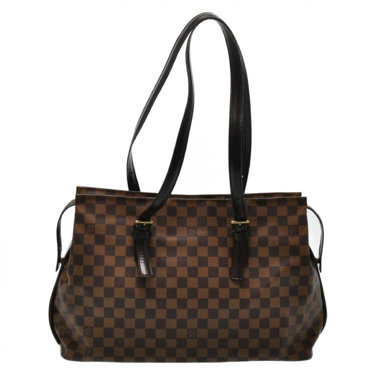 Louis Vuitton - Sac a main Chelsea pour femme en toile - marron