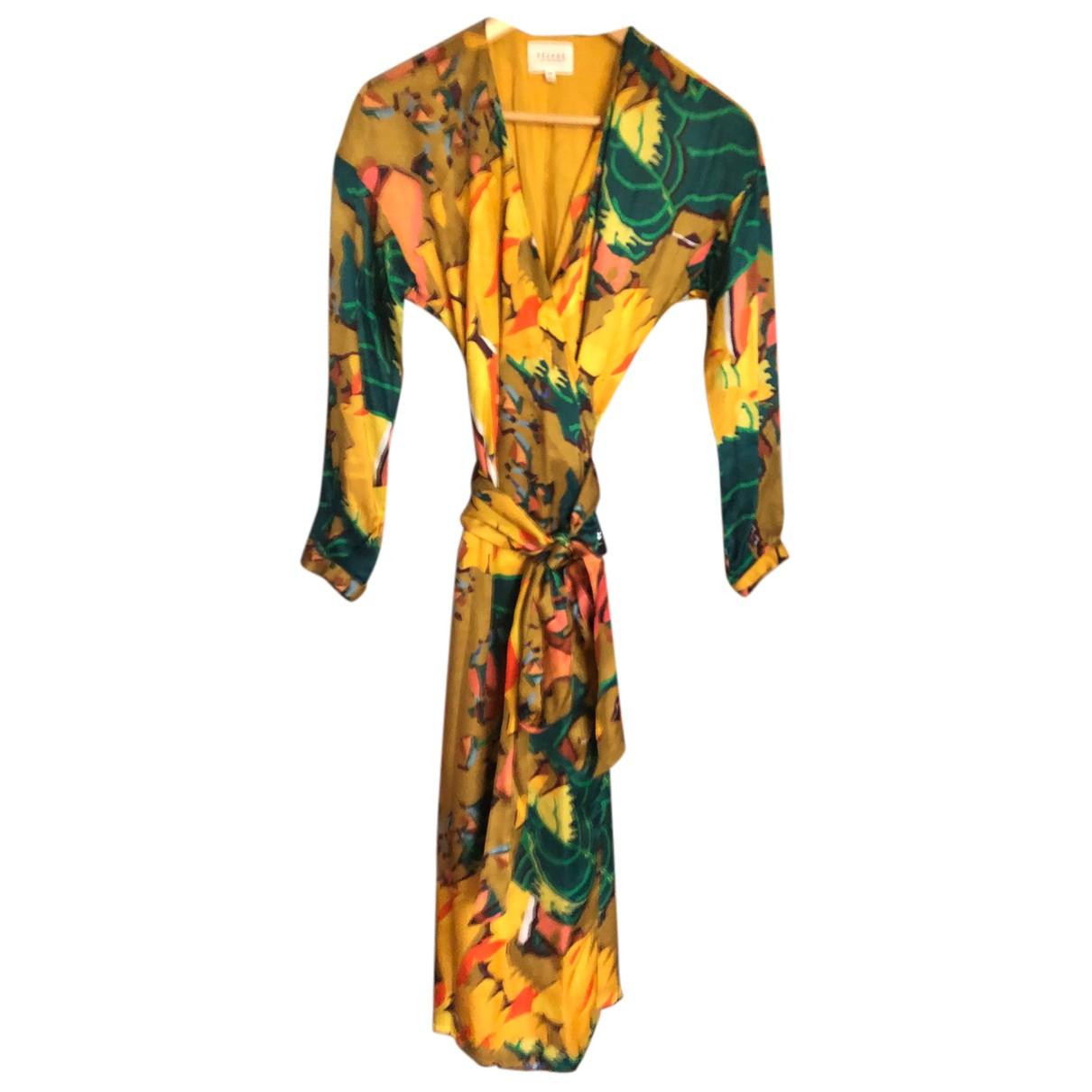Sezane - Robe   pour femme en soie - multicolore
