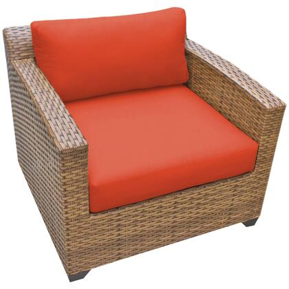 TKC025b-CC-TANGERINE Laguna Club Chair with 2 Covers: Wheat and