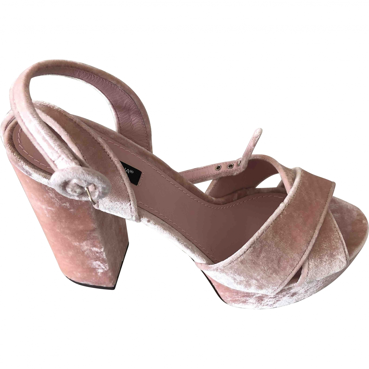 Dolce & Gabbana \N Pink Velvet Sandals for Women 39 EU