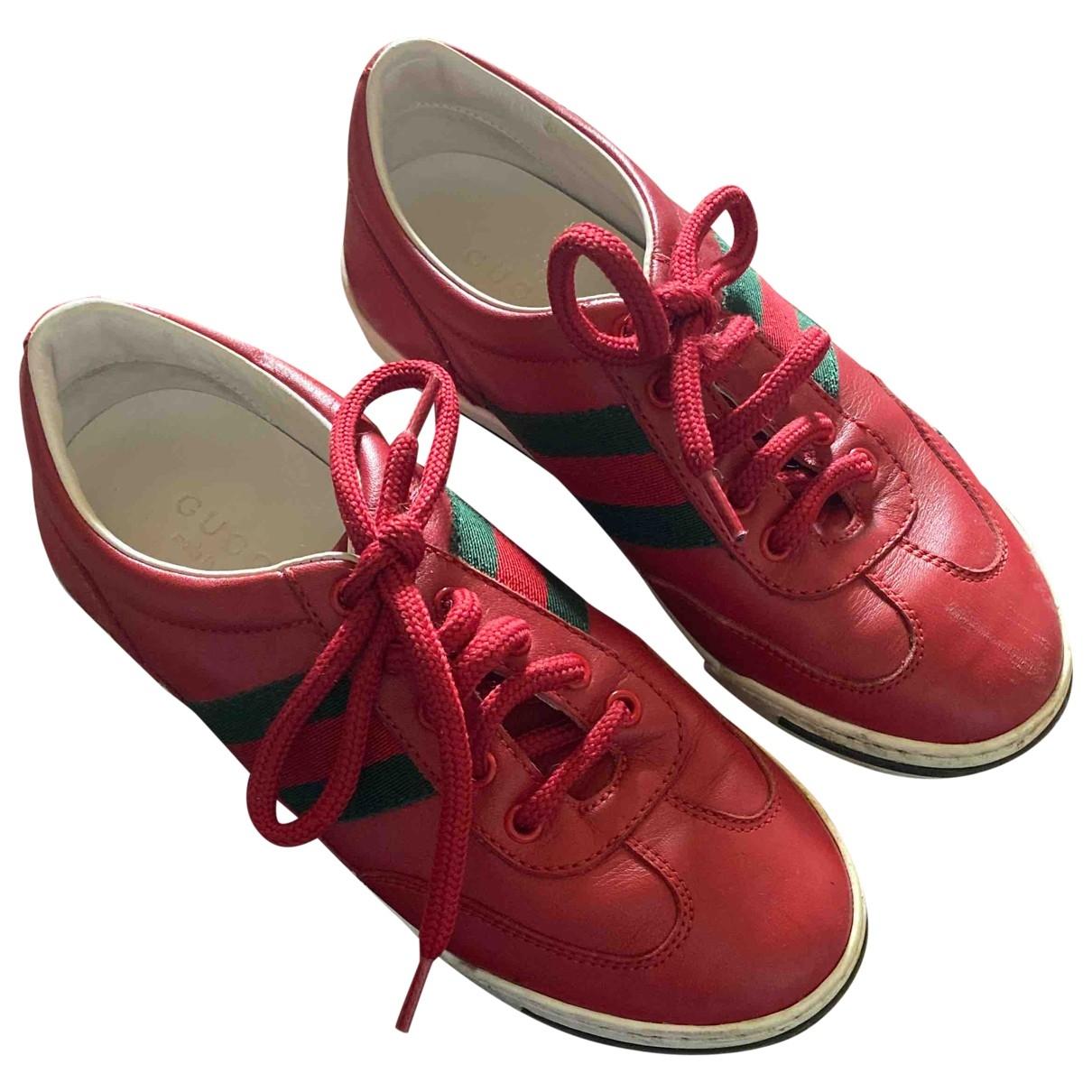 Gucci - Baskets   pour enfant en cuir - rouge