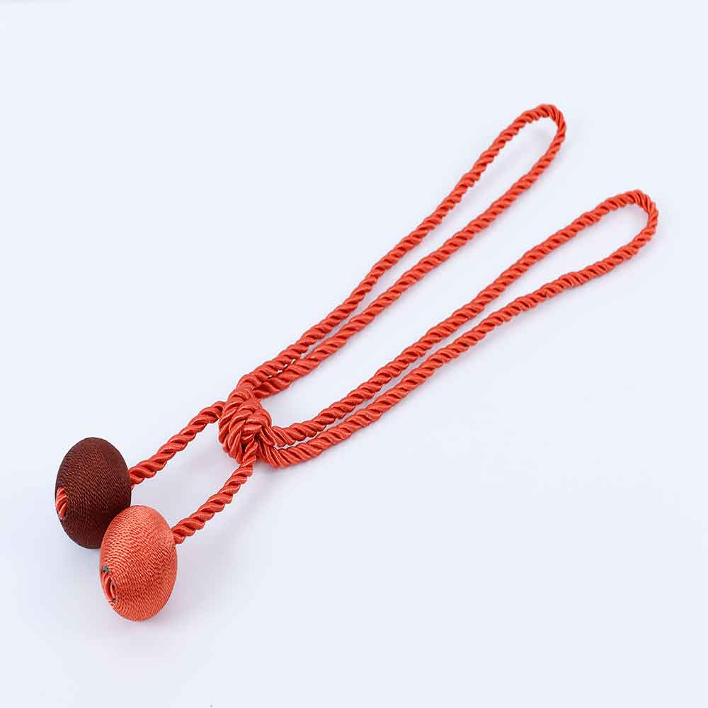 Decorative Polyester A Pair of 2-Ball Curtain Tie Backs