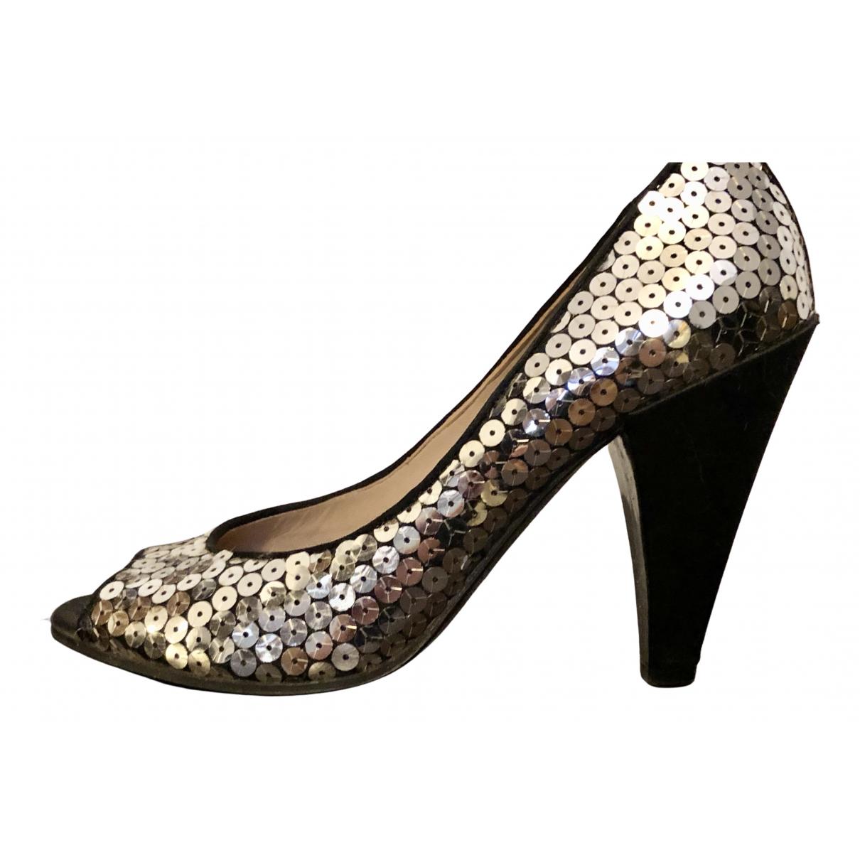 Marc By Marc Jacobs \N Silver Glitter Heels for Women 37.5 EU