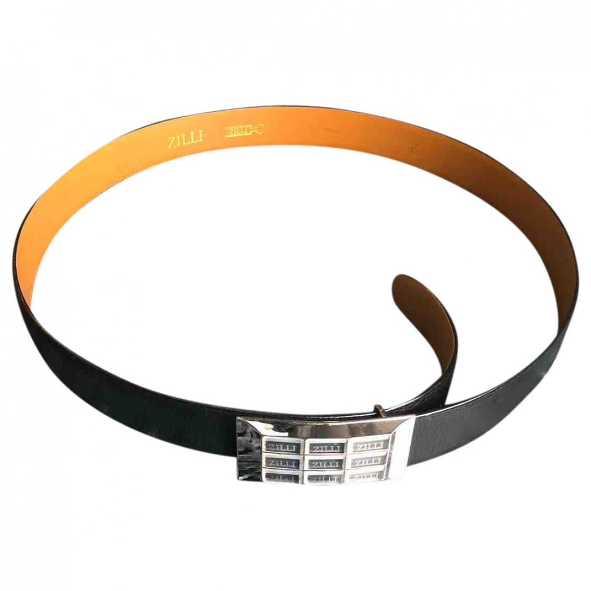 Zilli \N Black Leather belt for Men 100 cm