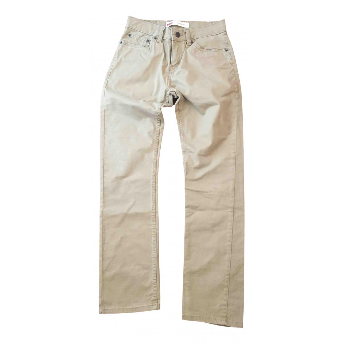 Pantalones en Algodon Beige Levis