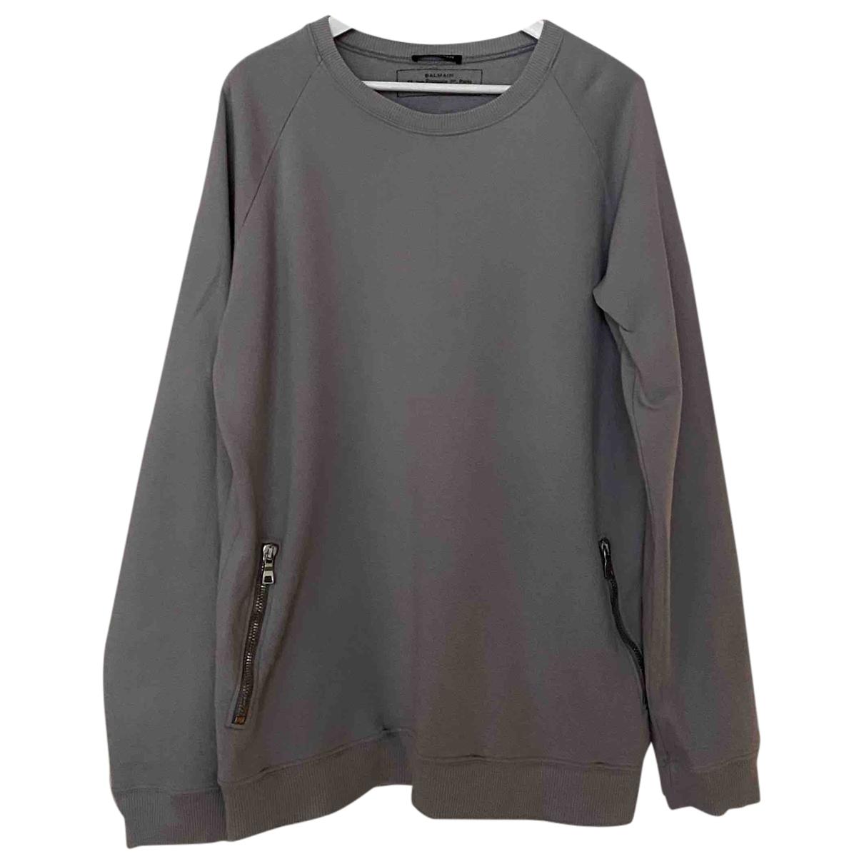 Balmain \N Grey Cotton Knitwear & Sweatshirts for Men L International