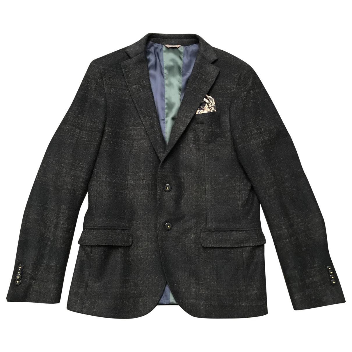 Manuel Ritz - Vestes.Blousons   pour homme en laine - bleu
