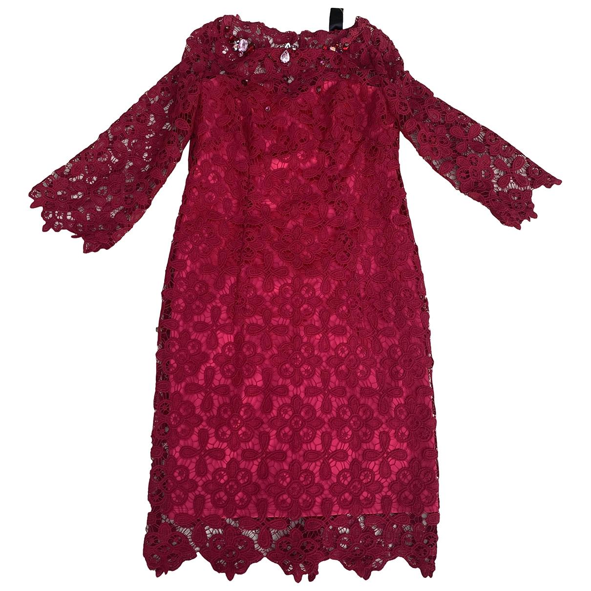 Maria Grazia Severi - Robe   pour femme en dentelle - rouge