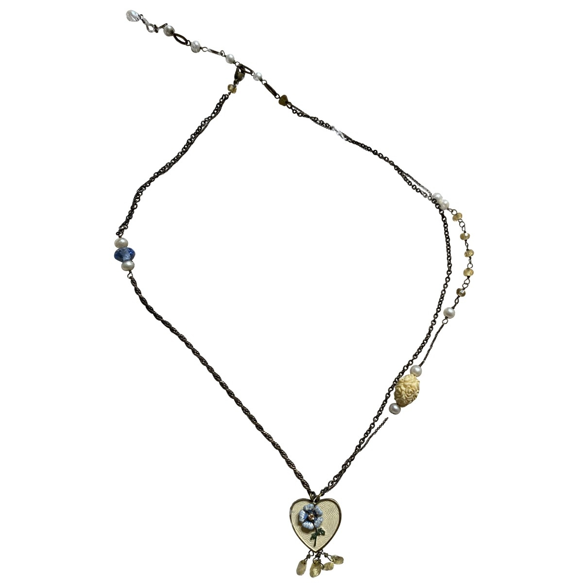 Les Néréides \N Yellow Metal necklace for Women \N