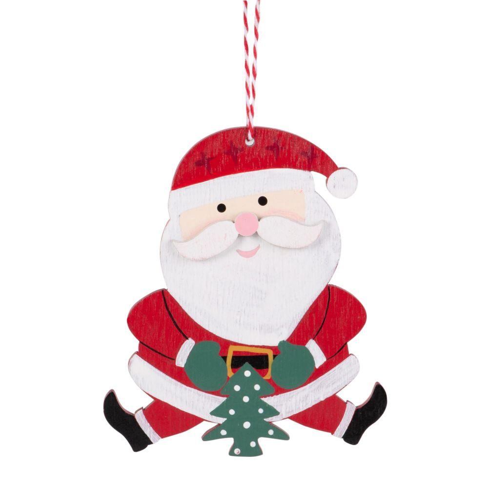 Haengedeko Weihnachtsmann, rot und weiss