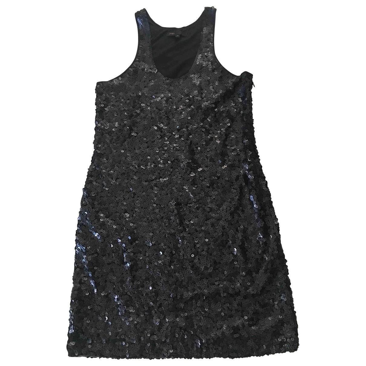 Maje \N Kleid in  Schwarz Mit Pailletten