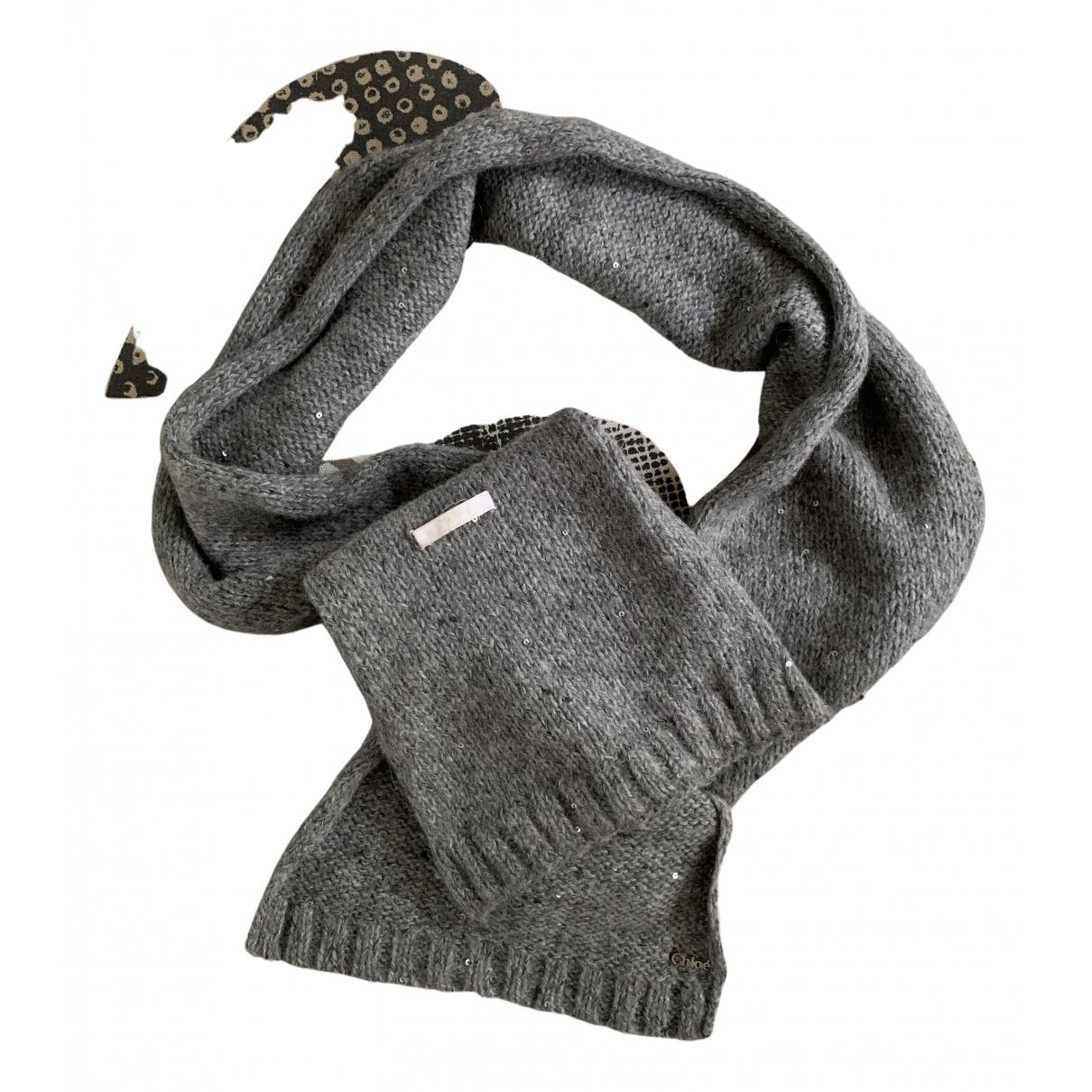 Chloe \N Halstuecher, Schal in  Grau Wolle