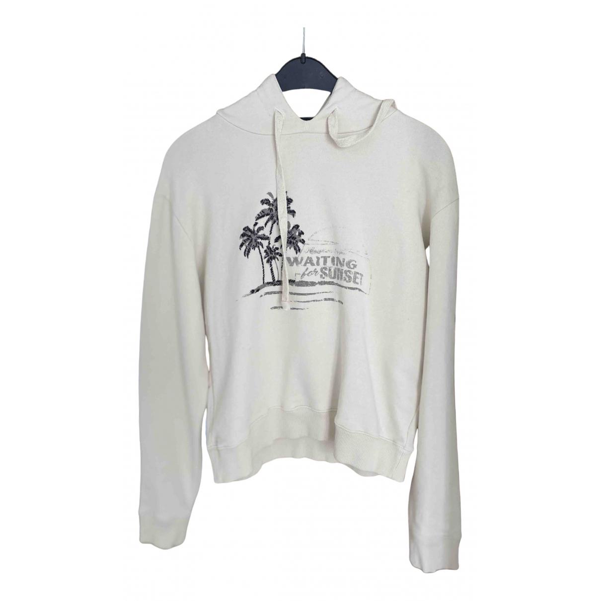 Saint Laurent - Pull   pour femme en coton - ecru