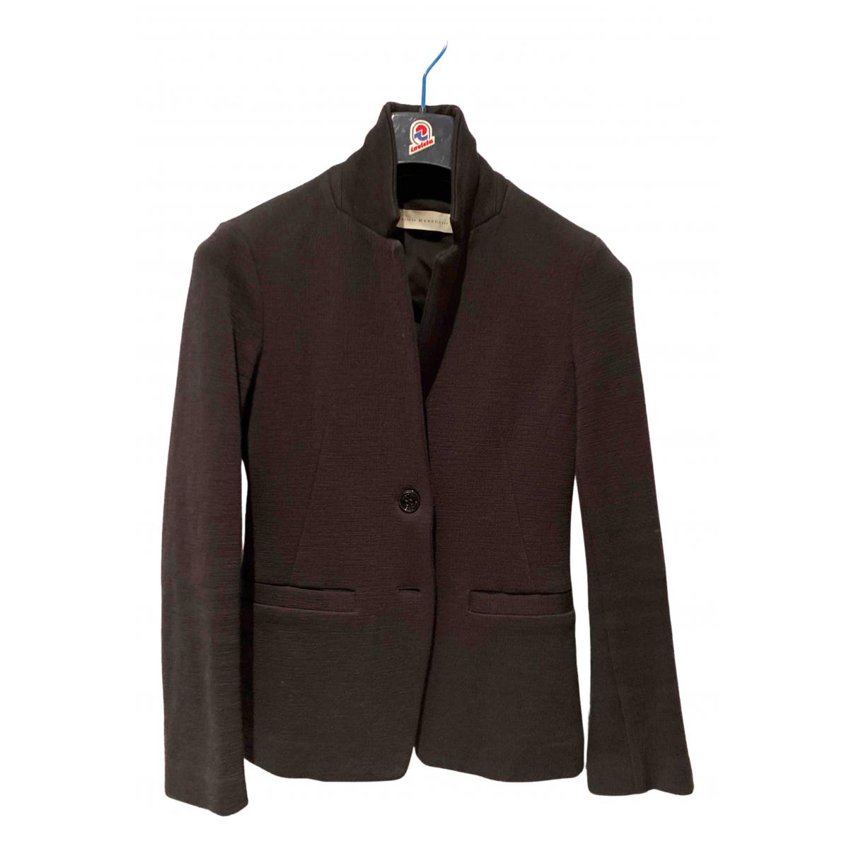 Non Signé / Unsigned N Black Cotton jacket for Women 40 IT
