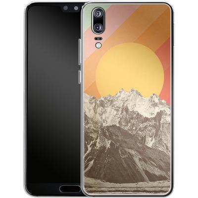 Huawei P20 Silikon Handyhuelle - Mountainscape von Florent Bodart