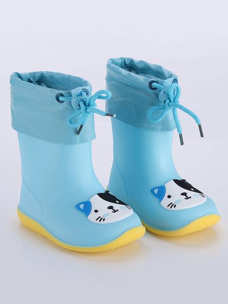 Milanoo Botas de lluvia para niñas Niños Niños Punta redonda Cute Cartoon Frog Pig Duck Botas de lluvia impermeables