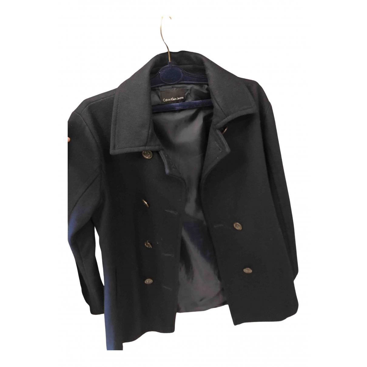 Calvin Klein N Blue Wool jacket for Women 40 IT