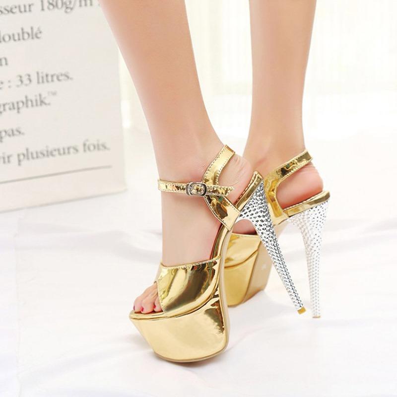 Ericdress Open Toe Stiletto Heel Buckle Sweet Sandals