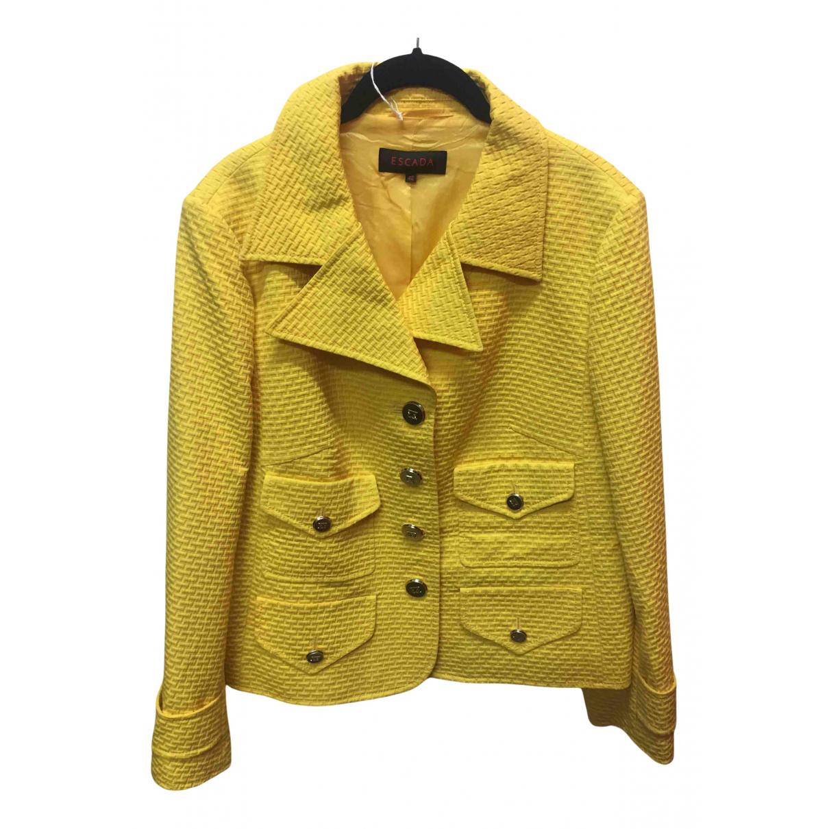 Escada - Veste   pour femme en coton - jaune