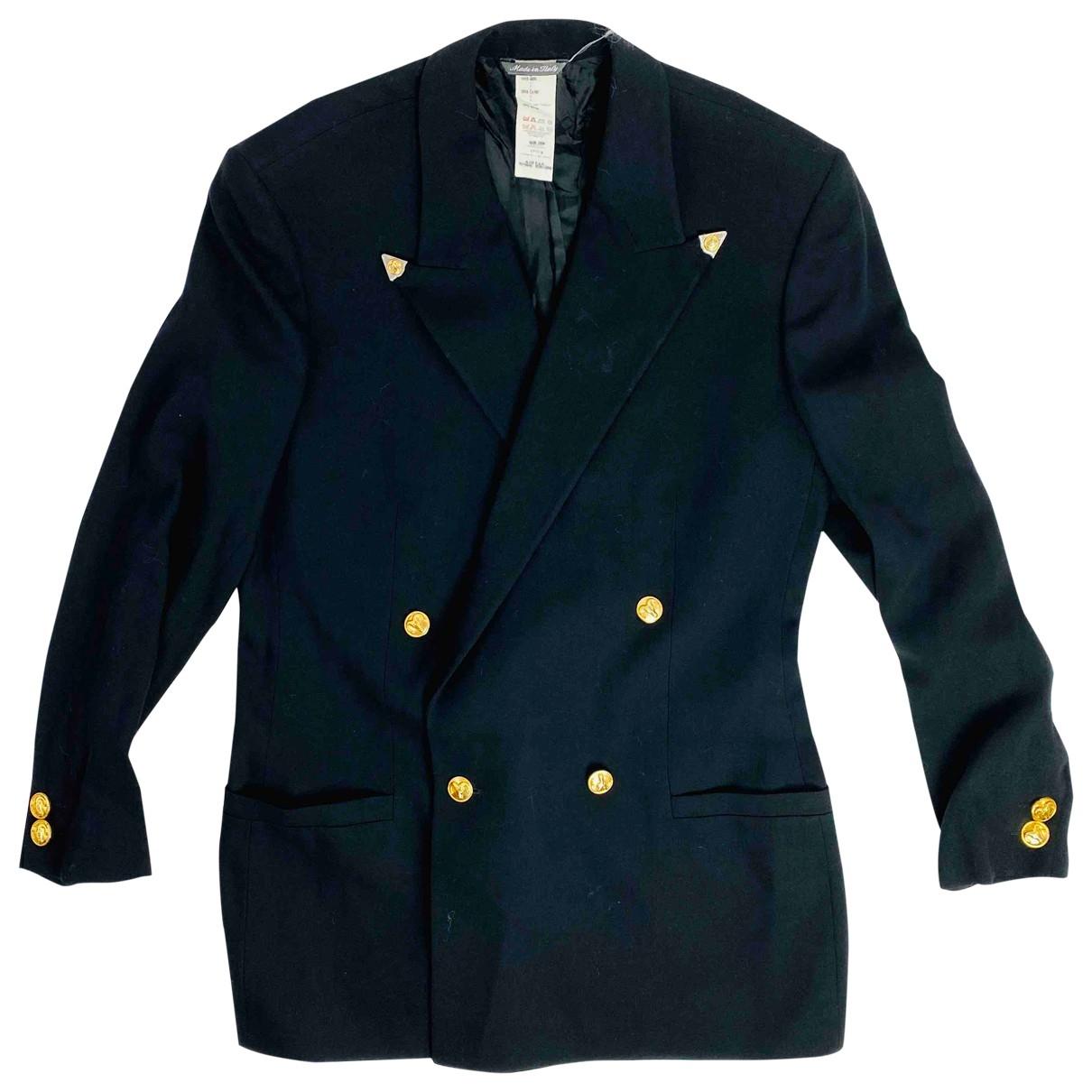 Istante - Veste   pour femme en laine - noir