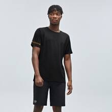 Men Letter Graphic Sports Tee