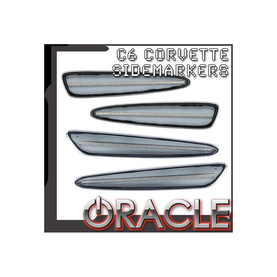 Oracle Lighting 3150-24U-G Chevrolet Corvette C6 Concept Sidemarker Set - Ghosted
