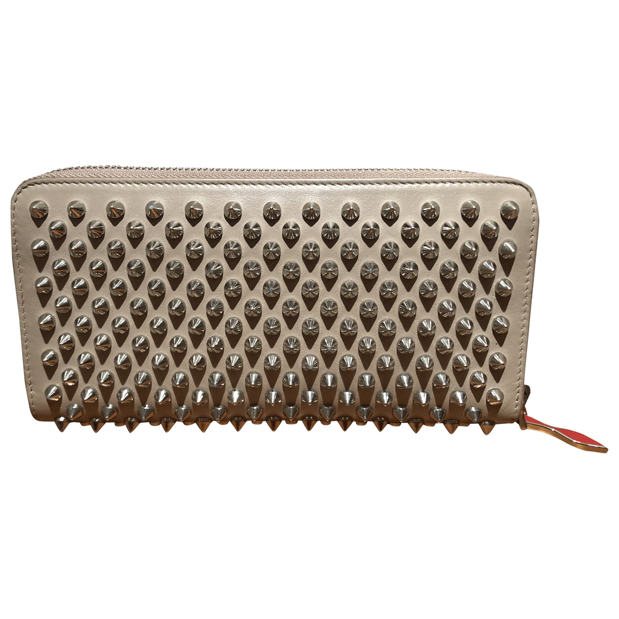 Christian Louboutin Panettone Beige Leather wallet for Women \N
