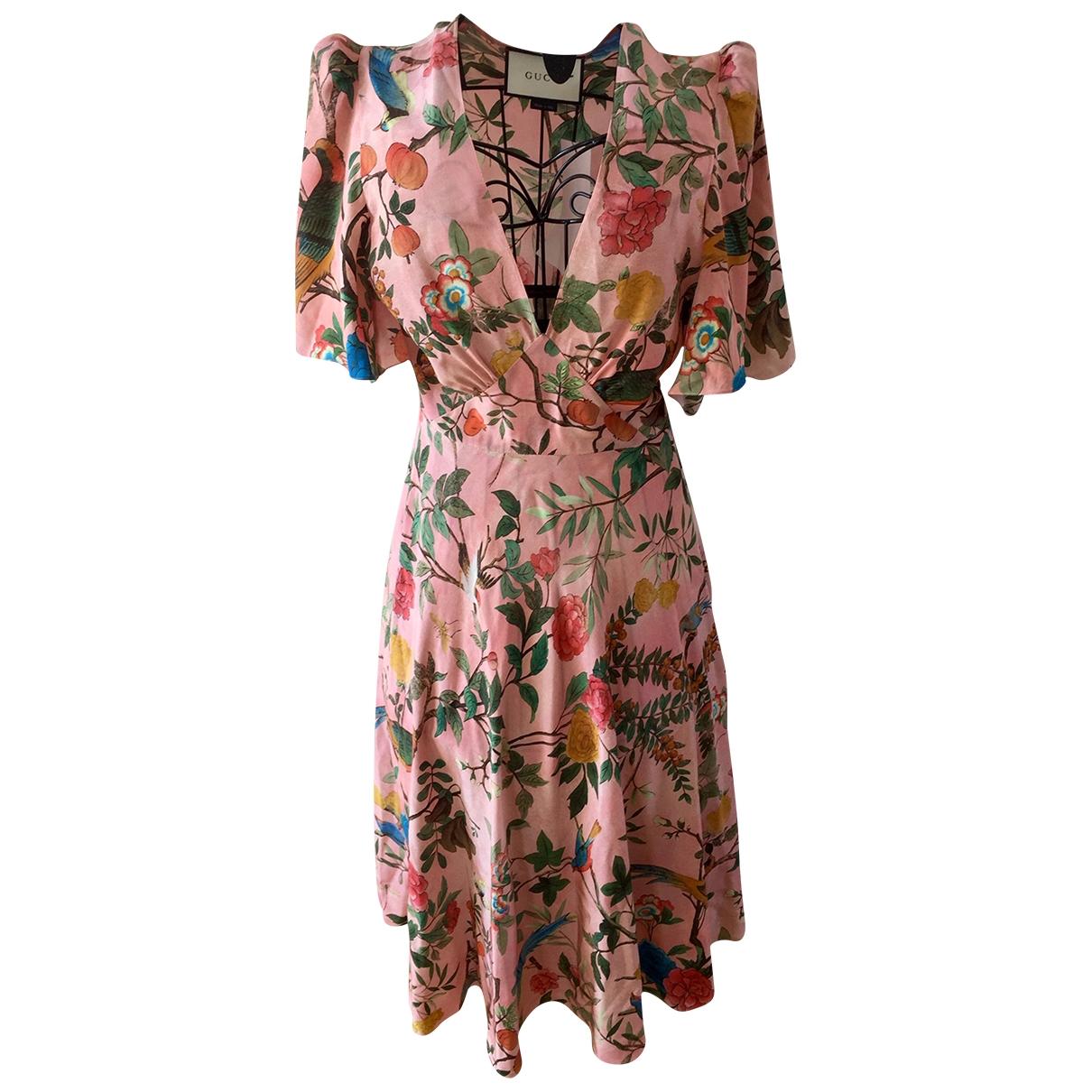 Gucci \N Pink Silk dress for Women 42 IT