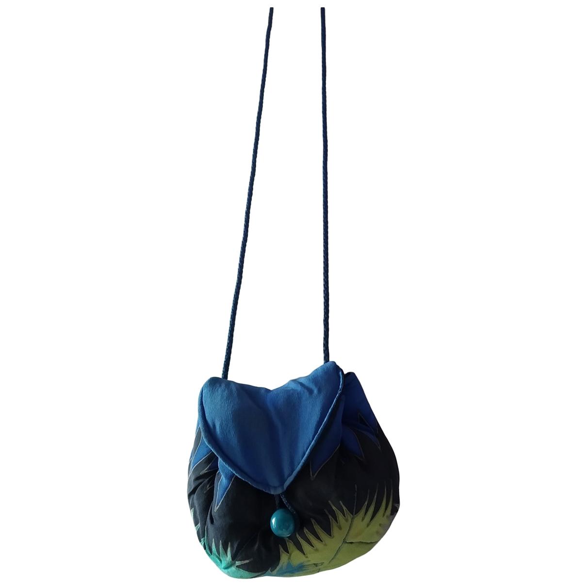 Non Signé / Unsigned \N Blue Silk handbag for Women \N