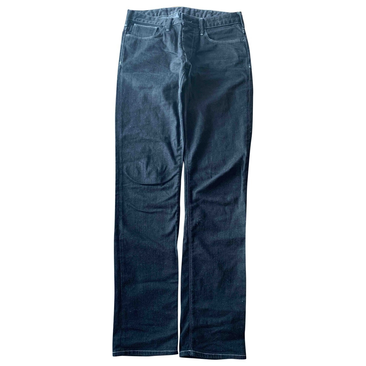 Armani Jeans \N Black Cotton - elasthane Jeans for Men 30 US