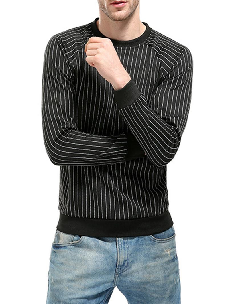 Ericdress Stripe Pullover Slim Casual Hoodies