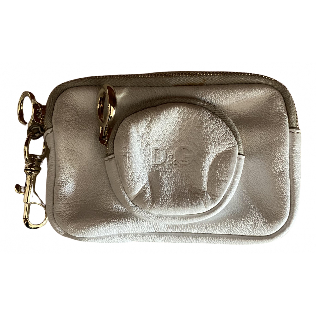 D&g N White Leather Purses, wallet & cases for Women N