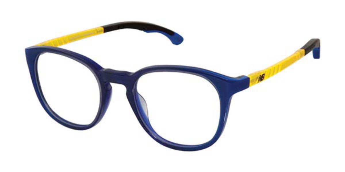 New Balance NB5024 Kids C03 Kids' Glasses Blue Size 46 - Free Lenses - HSA/FSA Insurance - Blue Light Block Available