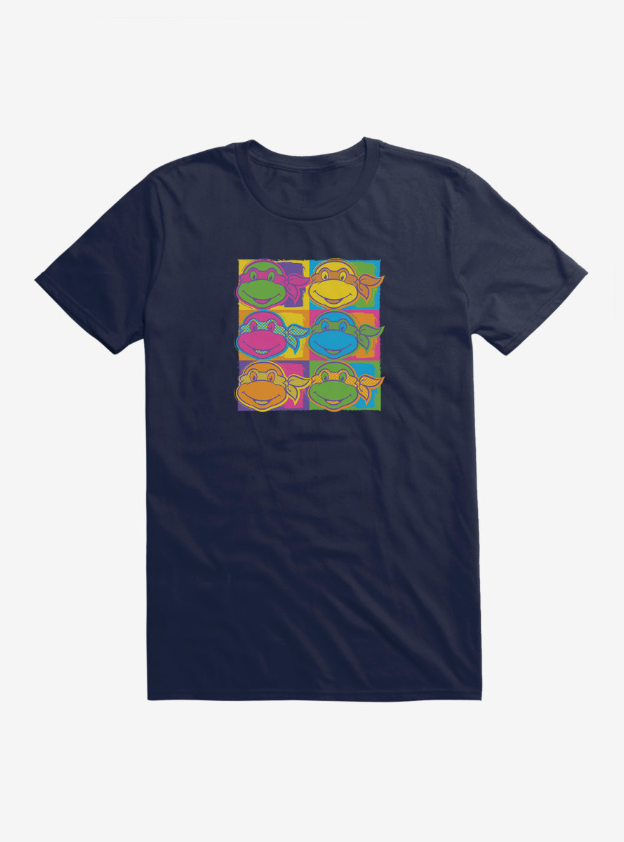 Teenage Mutant Ninja Turtles Character Heads Neon T-Shirt