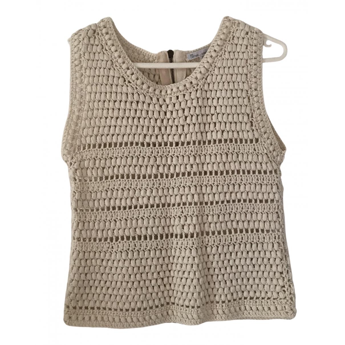 Les Petites - Top   pour femme en coton - ecru