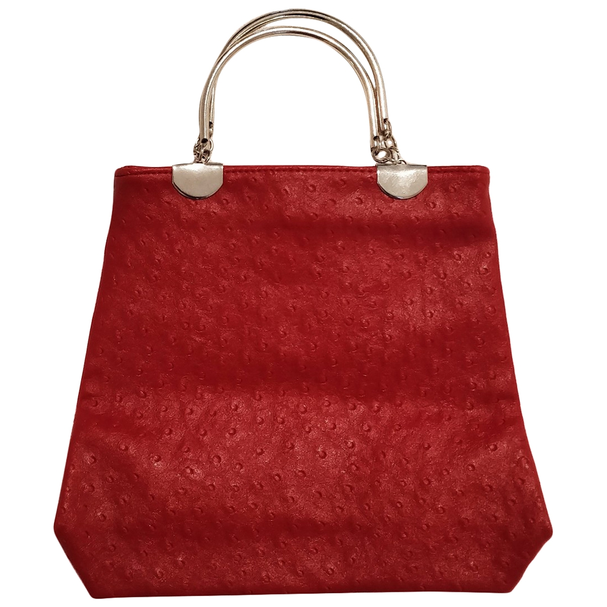 Non Signé / Unsigned \N Red Ostrich handbag for Women \N