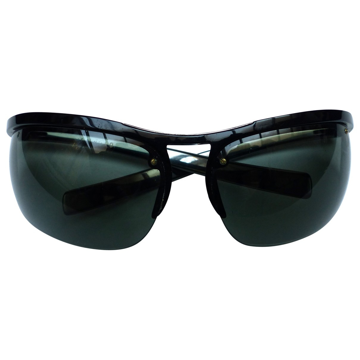 Non Signé / Unsigned \N Black Metal Sunglasses for Men \N