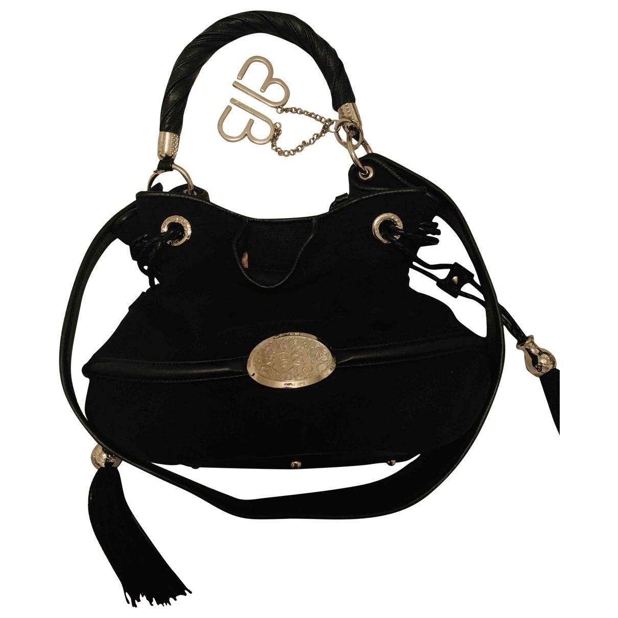 Lancel Brigitte Bardot Handtasche in  Schwarz Wolle