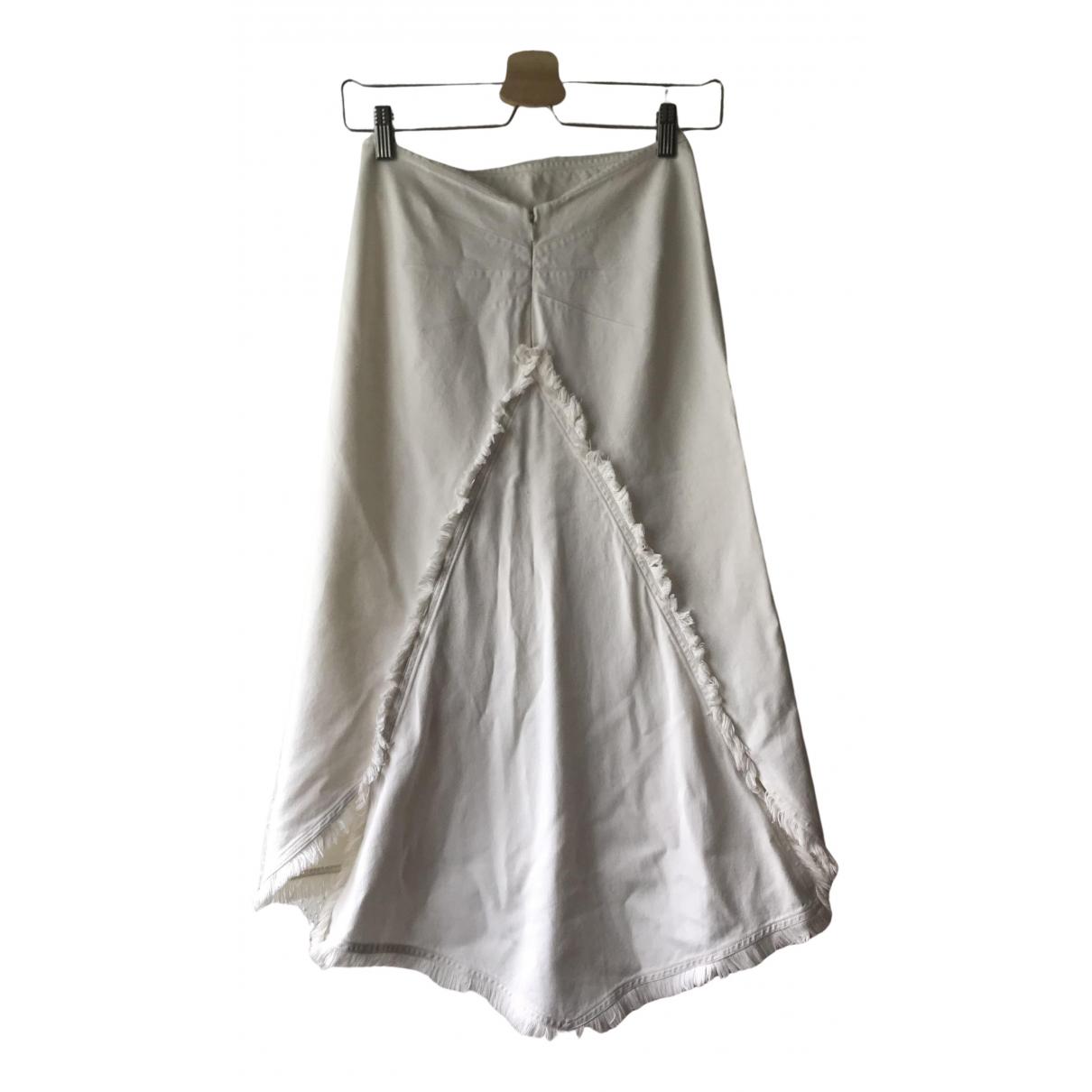 Chloe - Jupe   pour femme en coton - blanc