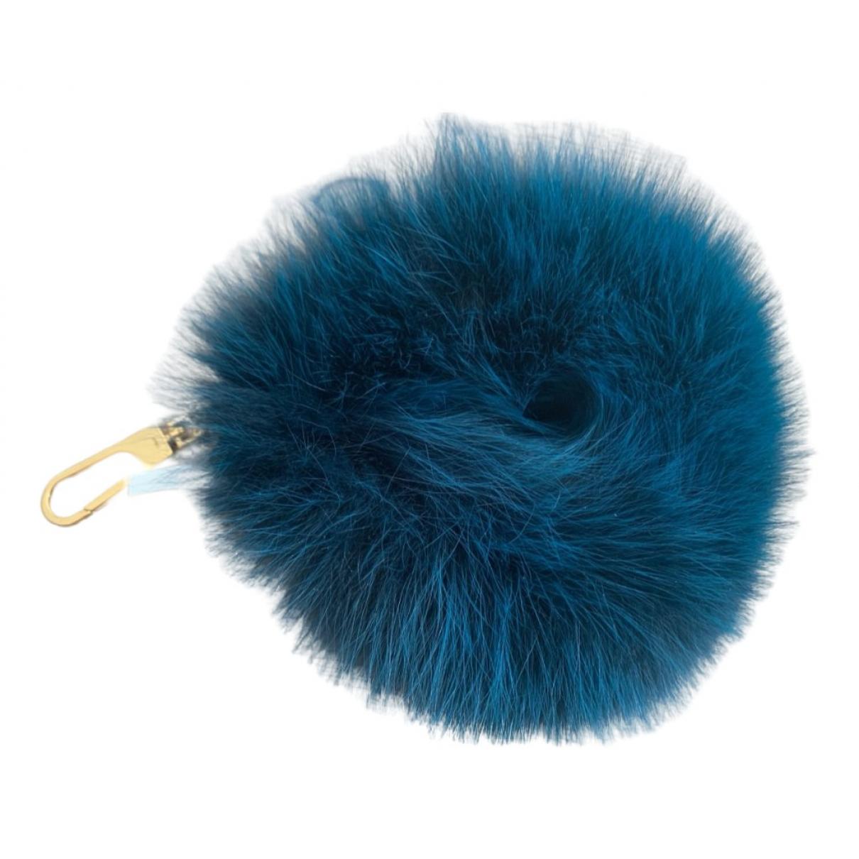 Chloe - Bijoux de sac   pour femme en fourrure - bleu