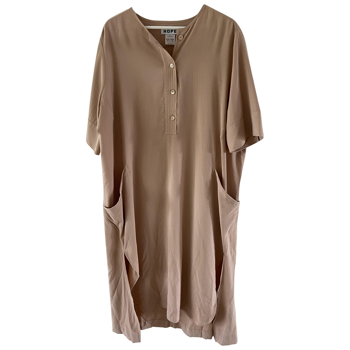 Hope \N Kleid in  Beige Viskose