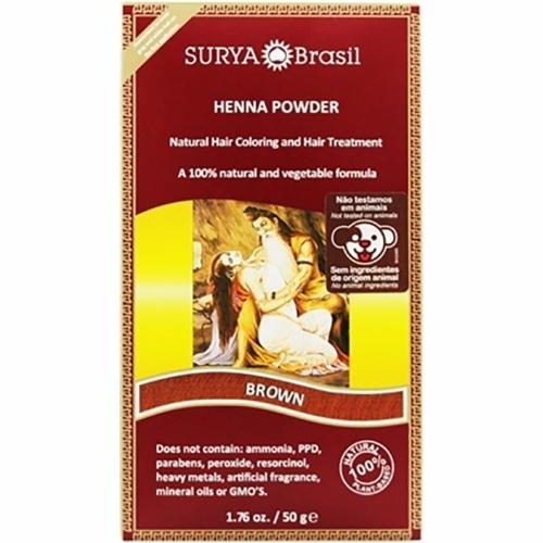 Henna Powder Brown 1.7 Oz by Surya Brasil