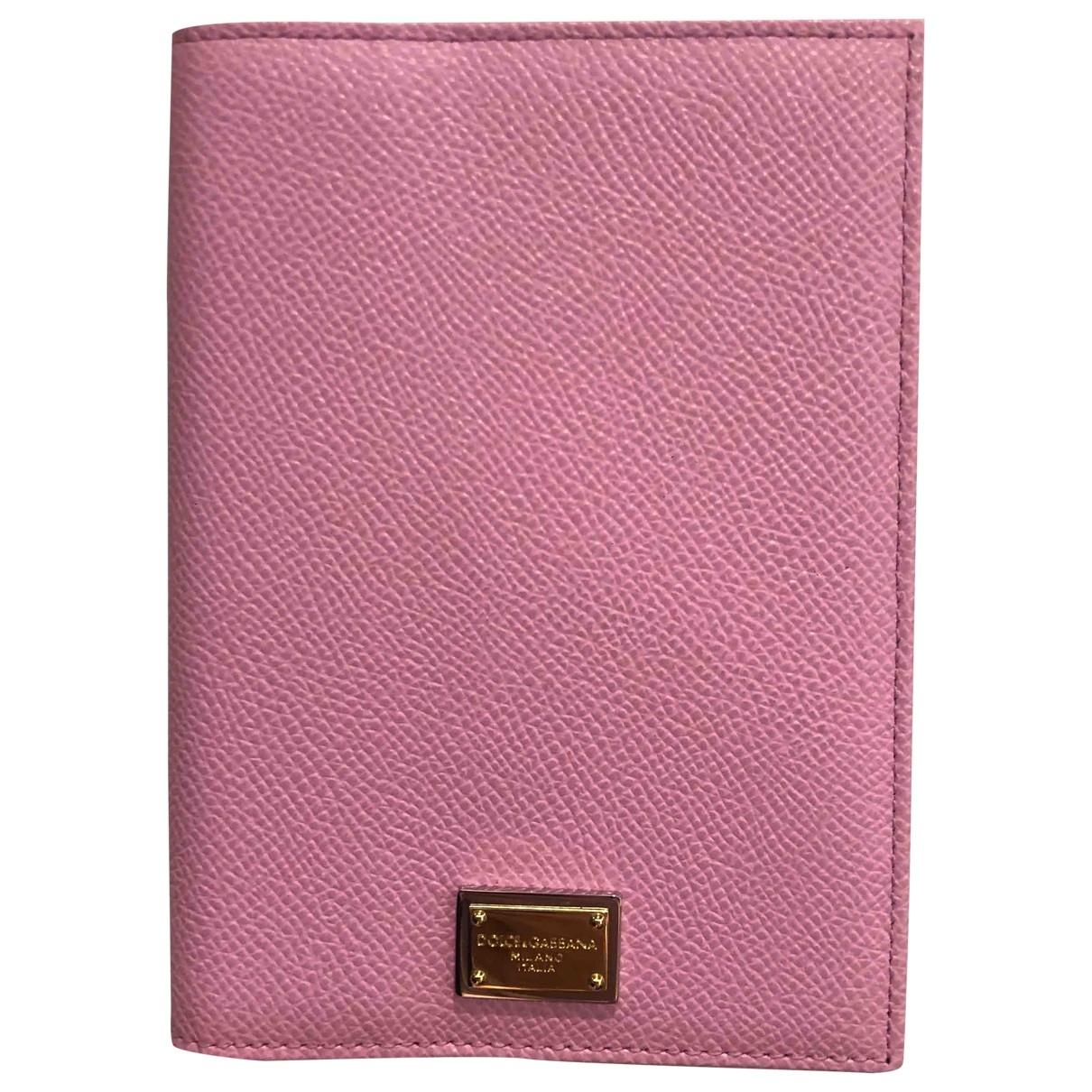 Dolce & Gabbana - Petite maroquinerie   pour femme en cuir - rose