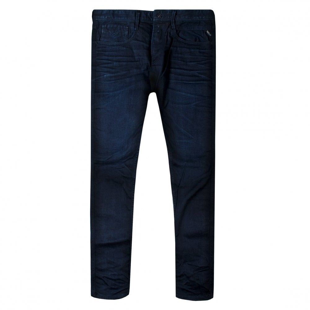 Replay Anbass Denim Jeans Colour: NAVY, Size: 36 32
