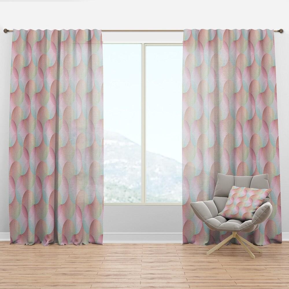 Designart 'Abstract Design Retro Pattern VII' Mid-Century Modern Curtain Panel (50 in. wide x 84 in. high - 1 Panel)