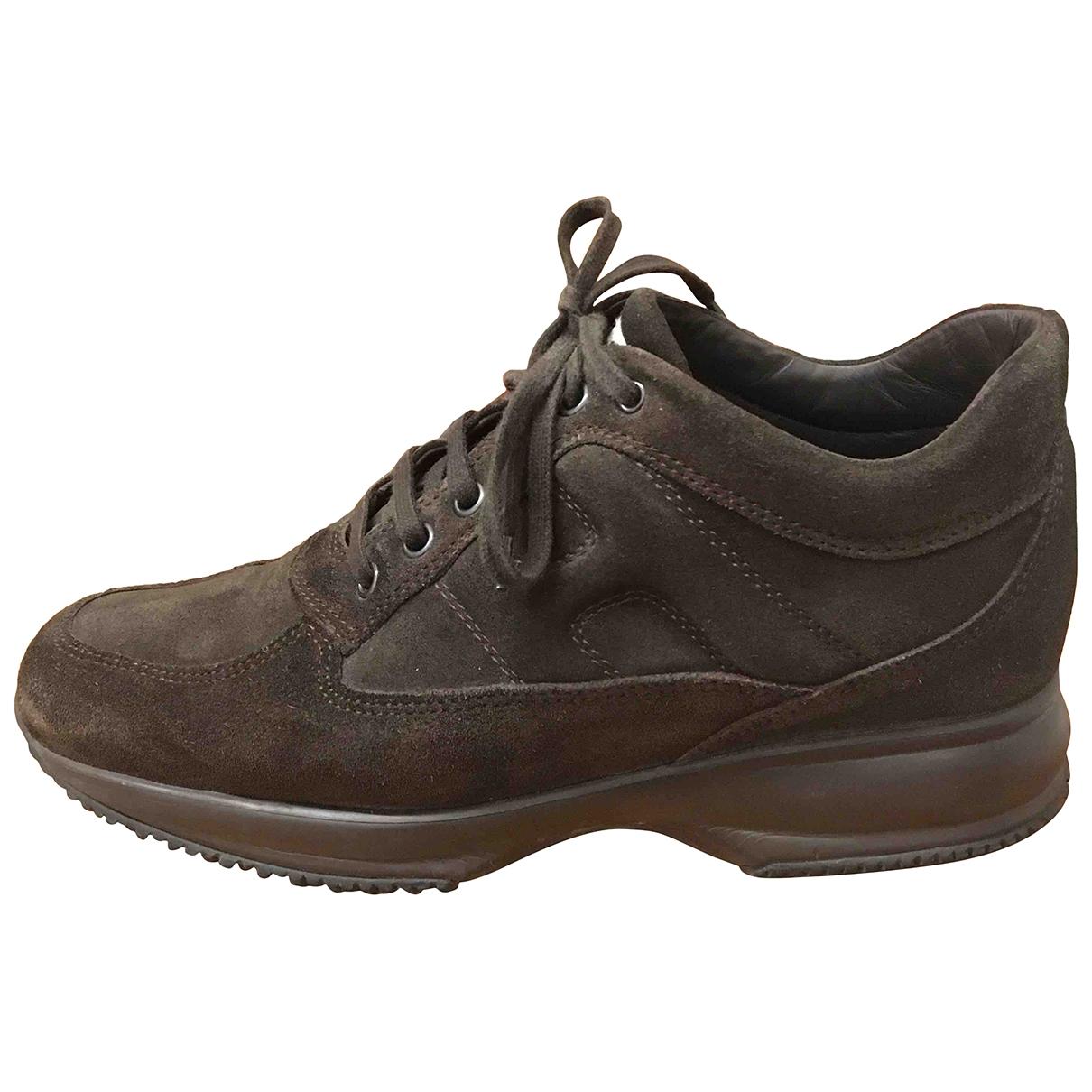 Hogan \N Sneakers in  Braun Leder