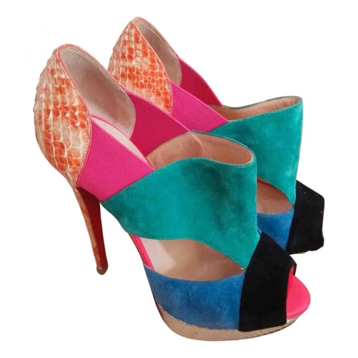 Christian Louboutin \N Multicolour Python Heels for Women 35.5 EU